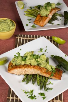 Seared Salmon with Spicy Avocado Sauce - just perfect for Phase 3.