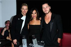 Val with Cheryl Burke & Derek Hough at launch party for VALENTIN, Chmerkovskiy's urban coture clothing line.