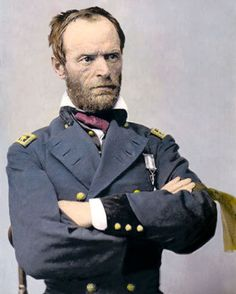 """William Tecumseh Sherman, February 8, 1820 – February 14, 1891) was an American soldier, businessman, educator and author. He served as a General in the Union Army during the American Civil War (1861–65), for which he received recognition for his outstanding command of military strategy as well as criticism for the harshness of the """"scorched earth"""" policies that he implemented in conducting total war against the Confederate States."""