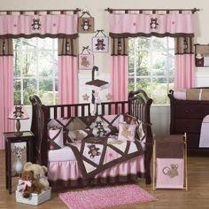 Teddy Bear Pink Bedding by JoJo Designs - Teddy Bear Baby Crib Bedding - teddybear-pk-9