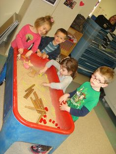 3 little pigs sensory table | story was very popular...The True Story of the Three Little Pigs ...