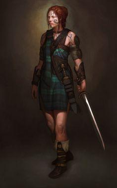 """On sait si peu de choses sur l'origine des Pictes (Celtes d'Ecosse) que des historiens parlent de """"l'énigme picte""""......"""