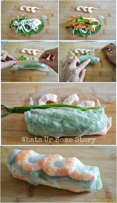 how to make a Vietnamese Spring Roll