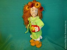 """$11.01  crochet """"Madame in curlers."""""""