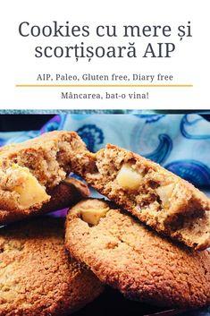 Cookies cu mere și scorțișoară AIP - Mâncarea, bat-o vina Baby Food Recipes, Biscuit, Banana Bread, Muffin, Paleo, Gluten Free, Sweets, Cookies, Breakfast