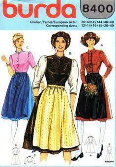 Burda 8400 Pretty Miss Dress 1980's