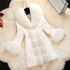 >> Click to Buy << HOT! Fur coat 2017 New fashion Women Winter Overcoat Fashion Faux Rabbit Coat with Fox Collar Female Outerwear female plus size #Affiliate