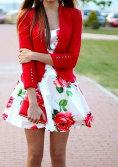 Imagen de dress, red, and fashion