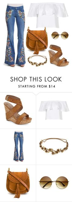 """Boohoo"" by kleopatra-aurel ❤ liked on Polyvore featuring Charles by Charles David, Topshop, Alice + Olivia, Jennifer Behr and Chloé"