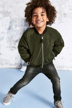Because even your little'un can rock the bomber jacket trend, LOVE this getup!