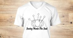 Sewing Mends The Soul Get your Quilting and Sewing T-Shirts Today and help support your local quilt shop and PatchworkPigQuilts.com