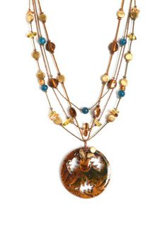 Autumnal Copper Pendant Necklace from Christopher and Banks, Heritage Mall.
