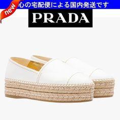 SS☆日本未入荷☆espadrilla ホワイト☆PRADA(プラダ)