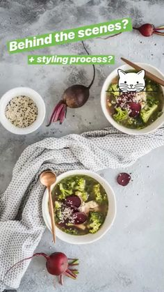 3 Soup Composition & Styling Ideas for Food Photography - Healthy Laura Food Design, Food Blogs, Food Videos, Food Tips, Food Styling, Styling Tips, Food Photography Props, Photography Lightbox, Photography Captions