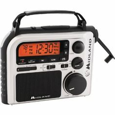 Emergency Crank Radio with AM/FM and Weather Alert by Midland. $70.64. MIDLAND EMERGENCY CRANK RADIOAM/FM/WETH RADIO AM/FM/WETHWater-resistant AM/FM radio with NOAA weather channelsBacklit LCD with clock and alarm7 preset weather channelsAlert override automatically switches from AM/FM to warn of hazardous conditionsDisplay, voice and flashlight alertsWake to local weather, AM/FM or buzzIncludes AC adapter