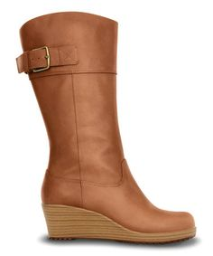 Look what I found on #zulily! Cinnamon & Walnut A-leigh Leather Boot - Women by Crocs #zulilyfinds