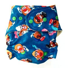 All In Two Cloth Diaper with Mr. and Mrs. Potato Head by Tooshas, $18.50