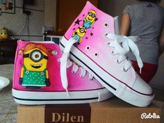 Minions Handpainted Shoes