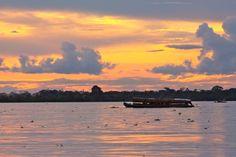 Sunset on the Peruvian Amazon River