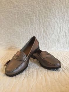 b3a89ad04b64 Hush Puppies Iris Sloan Womens grey leather loafer  fashion  clothing  shoes   accessories