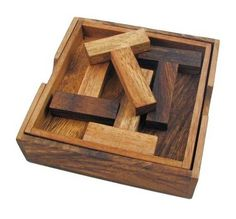 Four T's Wooden Puzzle Games & Puzzles Wooden by siamcollection