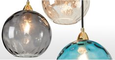 Ilaria Cluster Light, Multi Coloured Glass and Brass Glass Pendant Light, Glass Pendants, Cluster Lights, Beach Cottage Decor, Coloured Glass, Messing, Gradient Color, Glass Shades, Light Colors