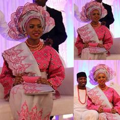 Nigerian traditional dresses Grau / Pink nigerianisches Outfit Choosing the Right Wallpaper Article Wallpaper Stores, Pink Wallpaper, Different Patterns, Color Patterns, Nigerian Traditional Dresses, Nigerian Outfits, Color Combos, Hot Pink, Saree