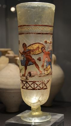 The Achilles on Skyros cup, enameled painting on glass, 3rd century AD, found in Cologne, Romisch-Germanisches Museum, Cologne