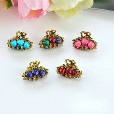 hair clips for women crystal: Cheapest 6 Pieces 2017 New HairPins Ornaments Rhin... Metal Hair Clips, Claw Clip, Hair Pins, Fashion Jewelry, Stud Earrings, Ornaments, Crystals, Womens Fashion, Accessories