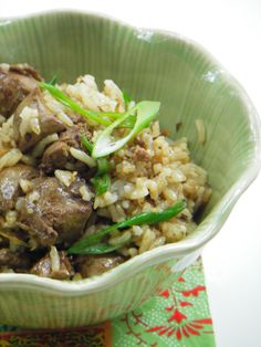 ~Chicken Liver Fried Rice with Garlic and Ginger Recipe~
