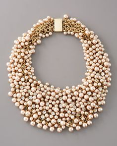 Pearl & Rhinestone Shag Necklace. Gorgeous and it's on sale!