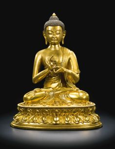 A GILT-BRONZE FIGURE OF BUDDHA DIPANKARA<br>QING DYNASTY, 17TH/18TH CENTURY | Lot | Sotheby's
