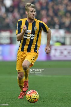 Filip Helander of Hellas Verona FC in action during the Serie A match between Torino FC and Hellas Verona FC at Stadio Olimpico di Torino on January 31, 2016 in Turin, Italy.