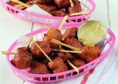 Yummy food bites:    Mini Corn Dogs [RECIPE]