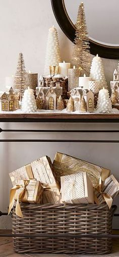 Farmhouse Christmas Decorating Ideas | Mercury Votives | For a festive, shimmery candlelight display, place the Eclectic Mercury Votives on a table or a mantel and add colorful ornaments to reflect the glow. #christmas #christmasdecorating