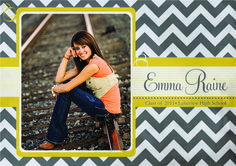 Graduation Announcements  #graduation #announcements I would do Troy colors with chevon!