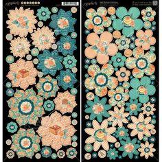 Graphic 45 - Café Parisian - Flowers