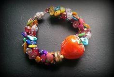 Srawberry bracelet by Bożena Wiślicka