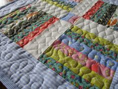 Gesteppte Throw Pillow Mini Flickenteppich von MommaBearsQuilts