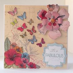 Card designed by Julie Lenton using Paradise collection.