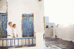Bride and groom in Mykonos