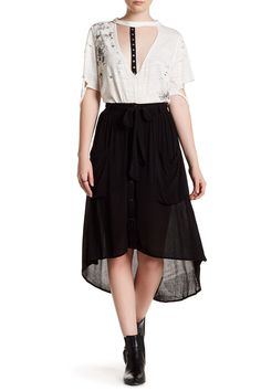Button Front Gauze Skirt by OOBERSWANK on @nordstrom_rack