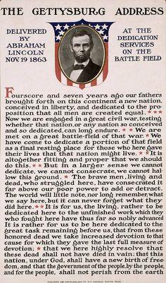 Gettysburg Address Poster by International  Images