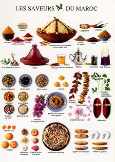 Les saveurs du Maroc / The Taste of Morocco (Nouvelles Images, France) French Language Lessons, French Lessons, Learn French Fast, Morrocan Food, Food Vocabulary, French Classroom, Food Charts, Thinking Day, Eat To Live
