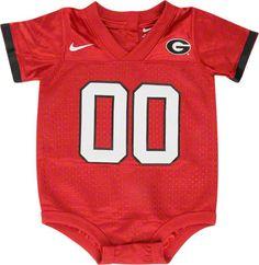 Georgia Bulldogs Nike Newborn Football Jersey Creeper
