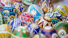 Painted Easter eggs by Izdebska on @creativemarket