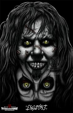 psychoslaughterman: What an excellent Day for an Exorcism and Tomorrow will be an excellent Day to pick up this Exorcist Print where you can get it signed by Pazuzu herself Eileen Dietz. Ill be at Table See you. Arte Horror, Horror Art, Horror Movie Posters, Horror Movies, The Exorcist 1973, Cinema, Scary Makeup, Scary Movies, Dark Art