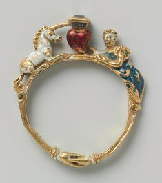 Unicorn Renaissance Ring, c.1550.