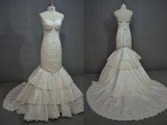 Corte Sirena Vestidos de Novia de Encaje