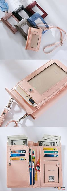 US$17.99+Free shipping. Women's Bag, Phone Bag, Wallet, Mini Crossbody Bag, Screen Touchable Phone Bag. Color: Red, Blue, Black, Pink, Gray, Pink. Fashion, Casual. A little but best gift for her, Shop now~